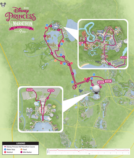 2018 princess half course map