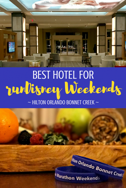 Why Marathon Weekends at Hilton Orlando Bonnet Creek are the runners choice for a Walt Disney World runDisney hotel. #hiltonbonnetcreek #orlandohotel #rundisney #marathonweekend #hosted #bestrundisney #rundisneytips #waltdisneyworld