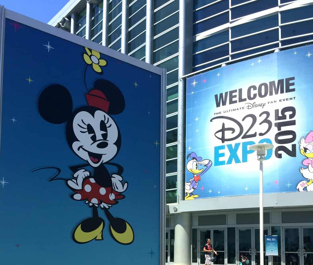 D23 Expo Minnie Mouse signage from 2015
