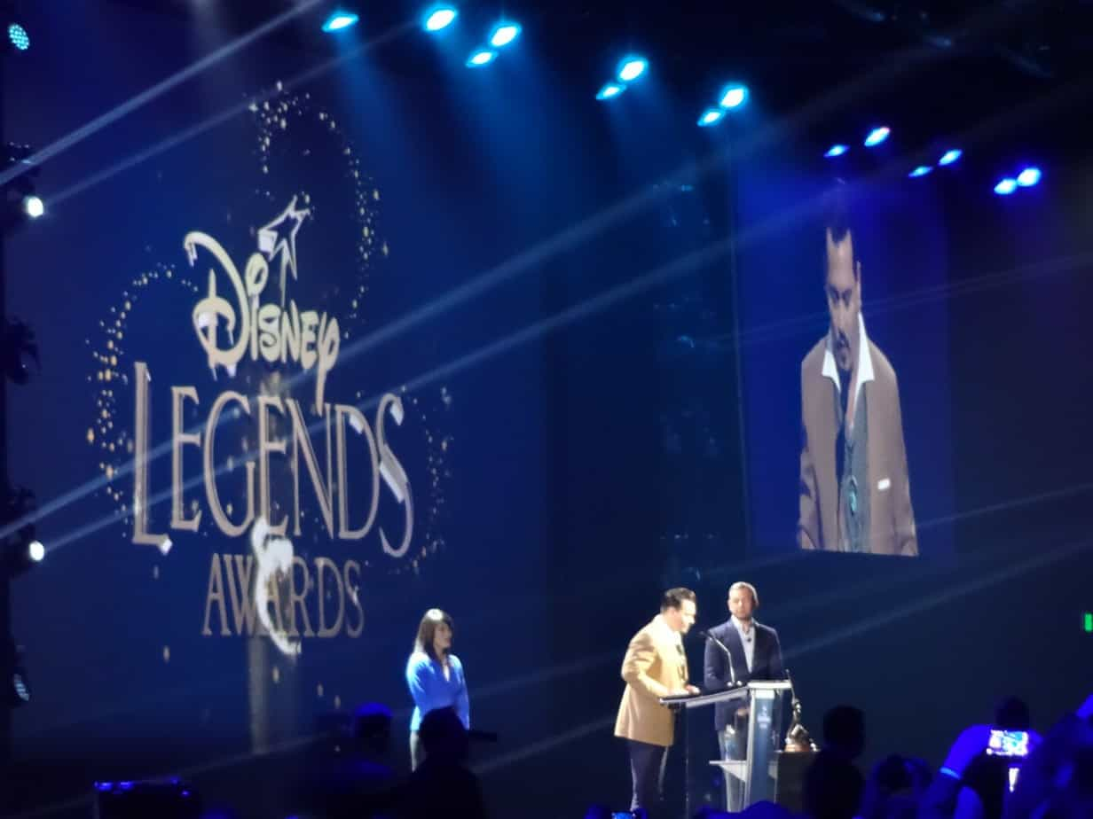 D23 Expo Disney Legend Johnny Depp on stage accepting award