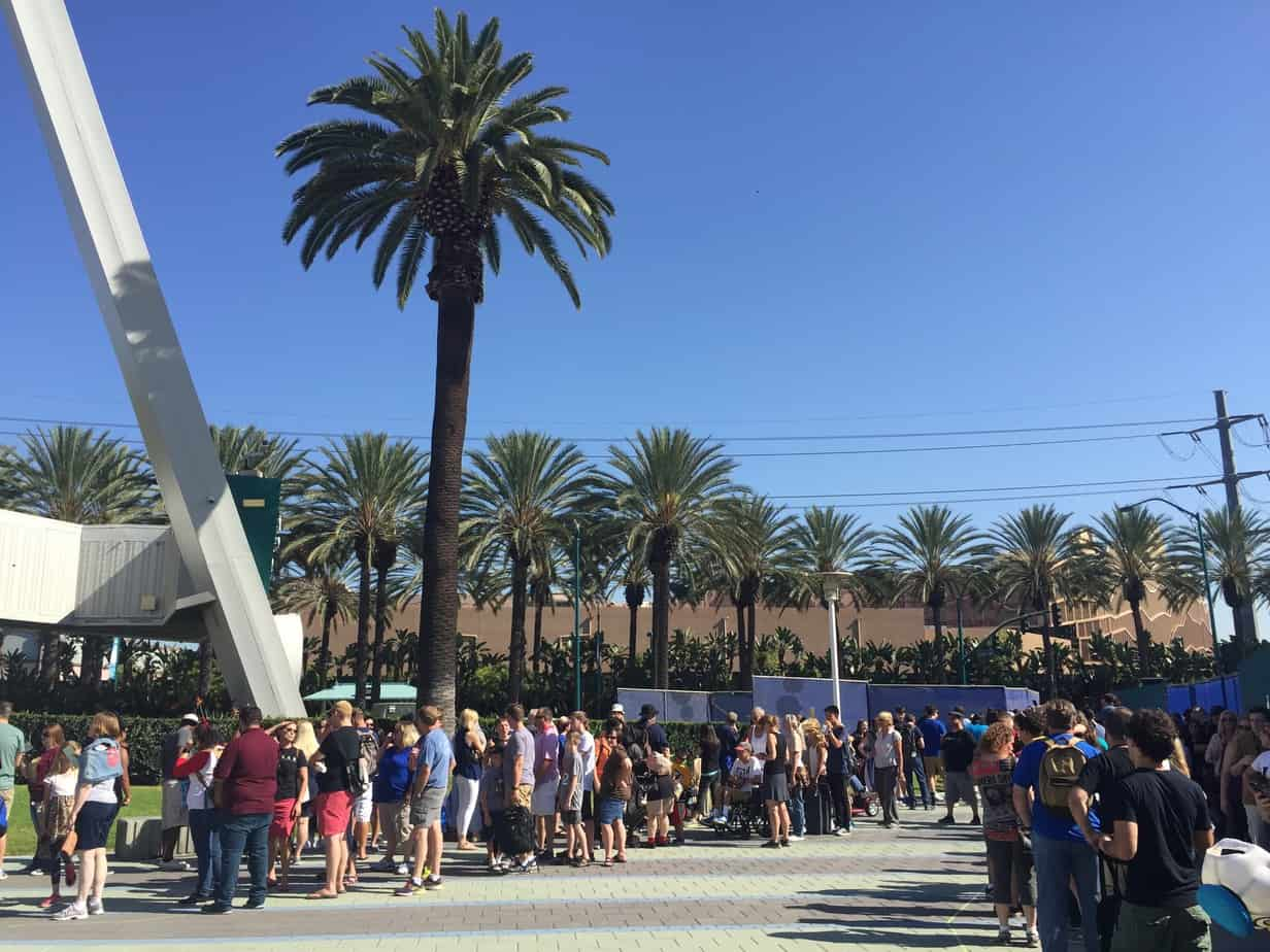 Outside the convention center Lines at the D23 Expo in 2015 D23 Expo tips