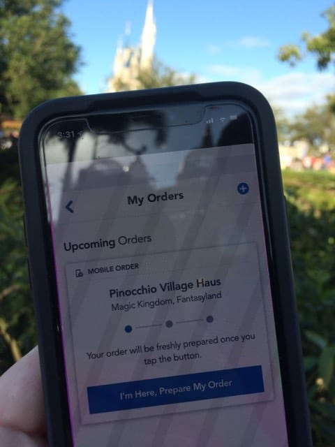 quick service dining menu mobile ordering from my disney experience app