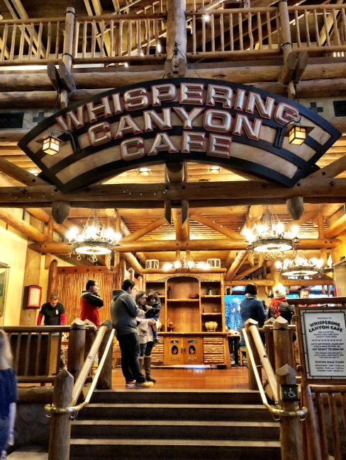whispering canyon cafe sign review disney dining