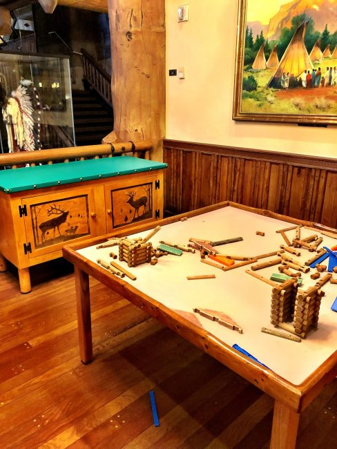 Lincoln logs for kids at whispering canyon cafe disney dining