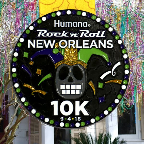 I'm training with my husband for the Rock 'n' Roll New Orleans 5K - and couldn't be more excited.? I'm also pumped to share the medal preview, and the news that The Soul Rebels will be performing at the Finish Line Festival this year!!