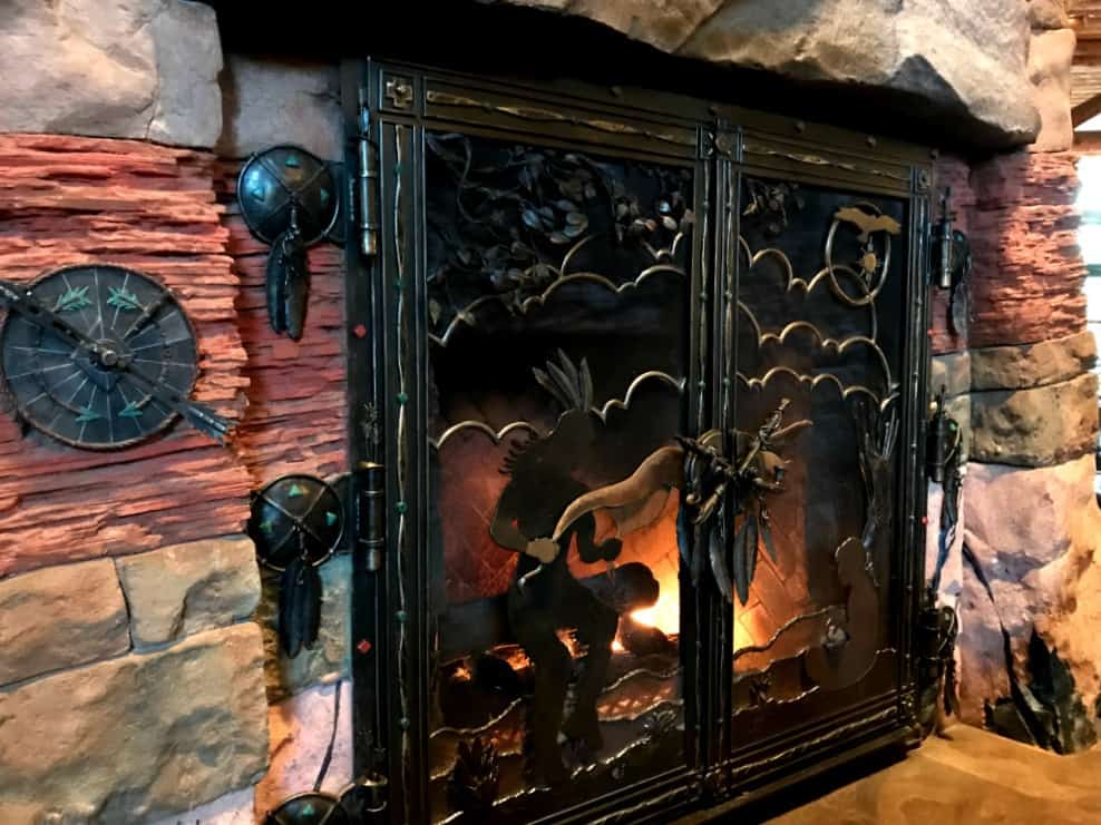 Wilderness lodge lobby fireplace whispering canyon cafe review
