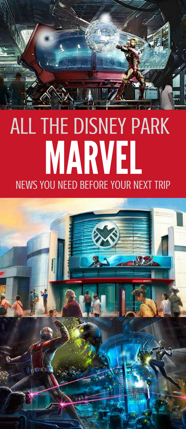 All the Disney Parks Marvel news you need before planning your next trip. Want to spend the Summer of Heroes in Paris? Ride a new Rock N Roll Roller coaster featuring Iron Man? It's happening in Disney World and Disneyland parks all over the world! #Disney #Disneytravel #Disneyland #DisneyWorld #marvel #MCU #IronMan #GuardiansoftheGalaxy #Antman