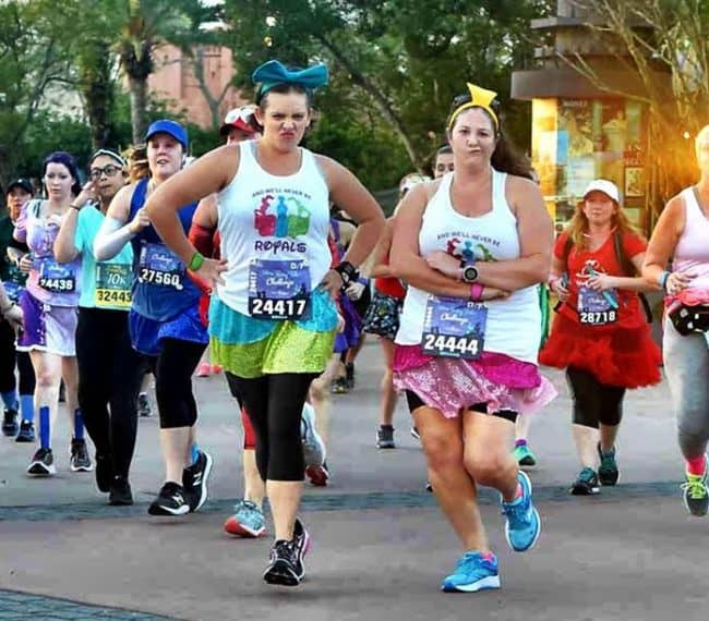 princess 10K step sisters running costumes