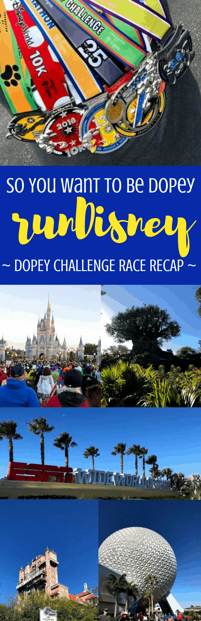 rundisney offers the biggest running challenge out there: the Dopey Challenge. Heres what you need to know about running Dopey. #rundisney #running #racerecap #waltdisneyworld #disneyworld