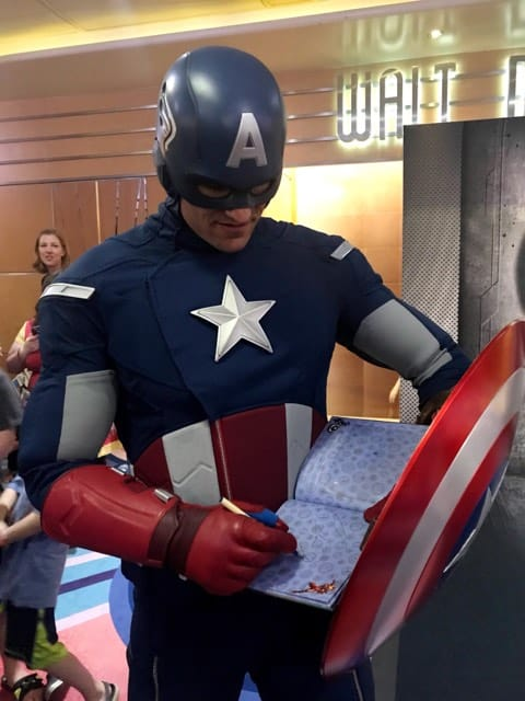 Marvel Day at Sea with Disney Cruise Line is your next vacation, Marvel fans! Captain America Meet and Greet