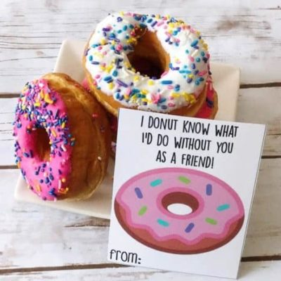 """Free Printable Valentines Cards You """"Donut"""" Want to Miss!"""