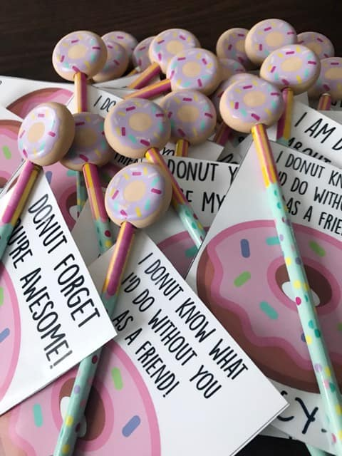 donut printable valentines cards