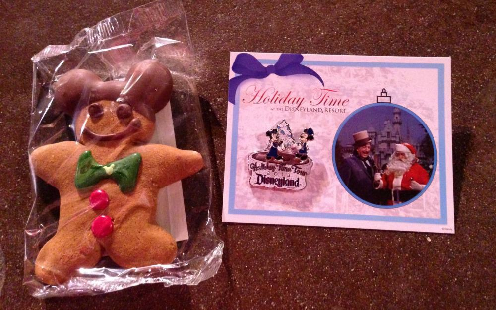Holiday tour at Disneyland pin and cookie is a great way to remember your disney vacation
