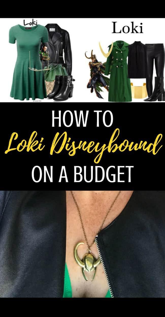 How to Marvel Loki Disneybound on a budget! #MCU #Marvel #Loki #Disneybounding #fashion