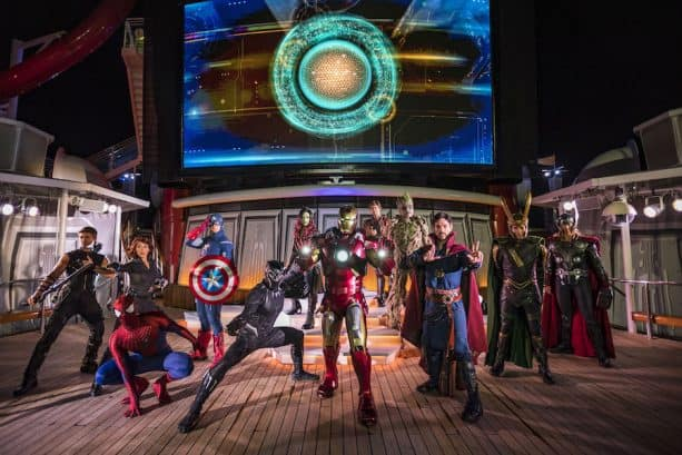 Marvel Day at Sea with Disney Cruise Line is your next vacation, Marvel fans! Marvel Characters on board