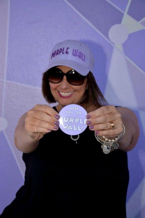 Disney World purple wall purple wall button
