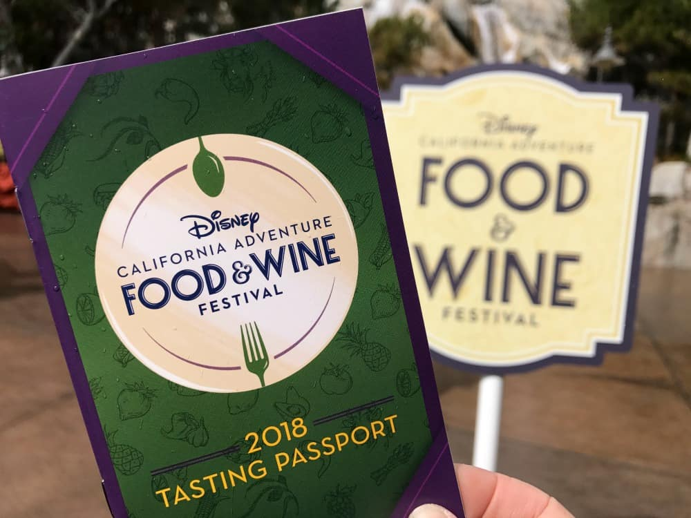 2018 Disneyland food and wine festival passport