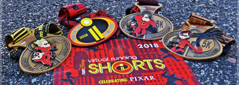 2018 rundisney virtual race medals featuring the Incredibles!