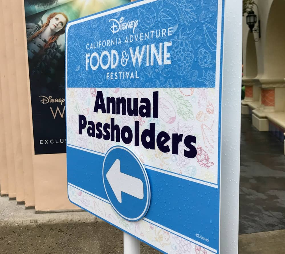Disneyland Annual Passholders food and wine