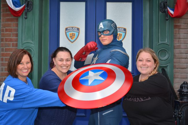 Captain America Disneyland Meet and Greet Talk Marvel to Me