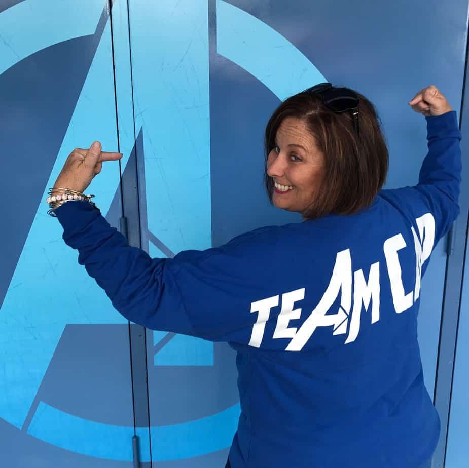 Team Cap Spirit Jersey Captain America Custom Disney Shirts for family