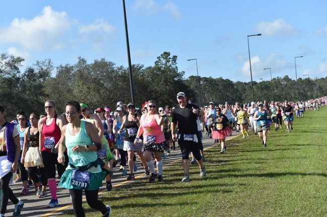 Princess Half Marathon runners and course congestion