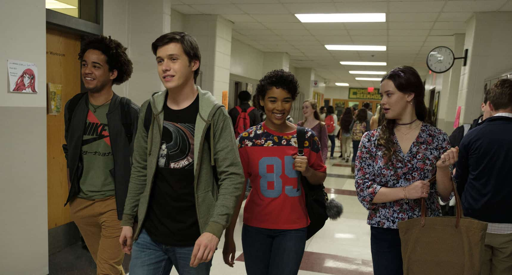 Love Simon movie walking with his friends
