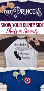 Custom Disney Shirts for the family! Shirts in Seconds makes quality ways to show your Disney Side! #disneyside #customdisney #disneyshirts #disneyworld #disneyland