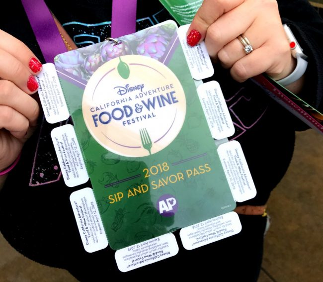 Sip and Savor pass Disneyland food and wine festival
