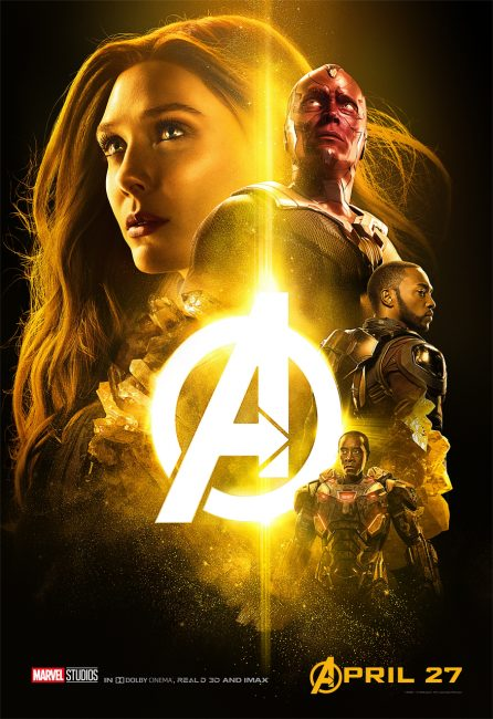 Infinity War yellow poster kid friendly movie