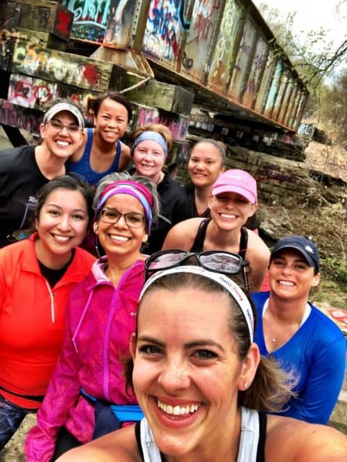 Running Group Selfie
