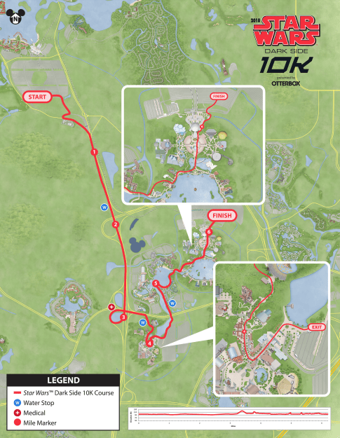 star wars dark side 10K course map 2018