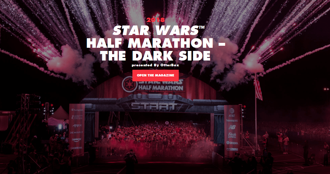 star wars half marathon event guide 2018 cover