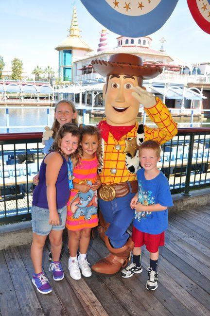 Pixar Character at Disneyland Woody