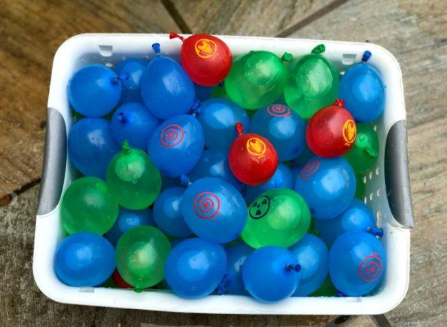 Avengers Water Balloons basket