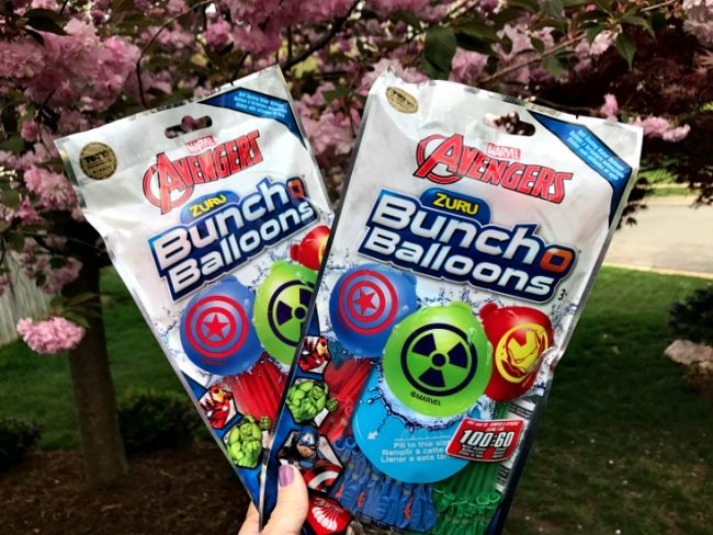 Avengers water Balloons for Avengers party ideas