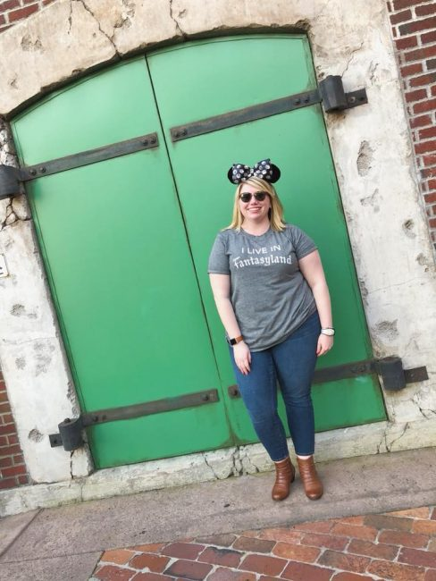 Green door Disney wall picture at Hollywood Studios