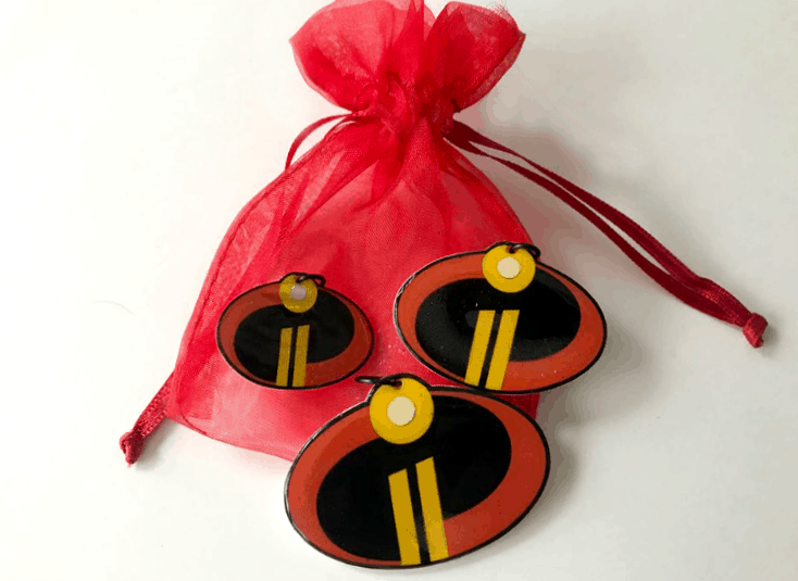 Incredibles logo necklace charms for Incredibles Disneybounding