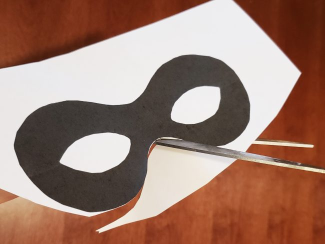 Incredibles 2 mask cookies paper template for an Incredibles themed birthday party