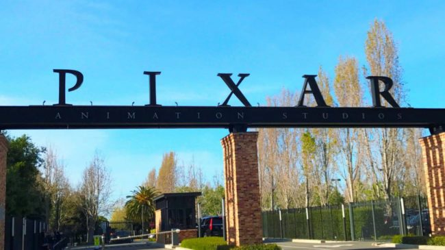 Entrance sign to Pixar Studios in Emeryville, California