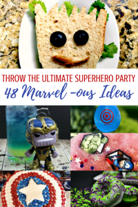 48 Marvel Avengers Superhero party ideas for your next birthday party! #Marvel #Avengers #infinitywar #birthdayparty #partyideas #partygames #superhero #superheroparty