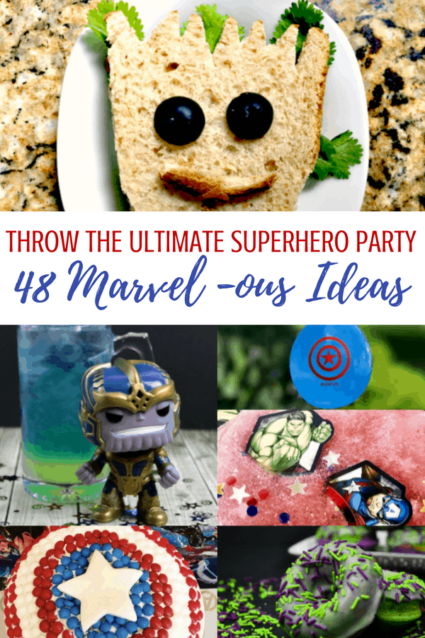 48 Marvel Avengers Superhero party ideas for your next birthday party! #Marvel #Avengers #infinitywar #birthdayparty #partyideas #partygames #superhero #superheroparty