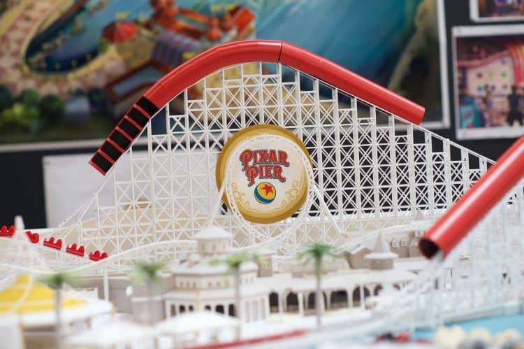 Working model of Incredicoaster at Pixar Pier in Disneyland