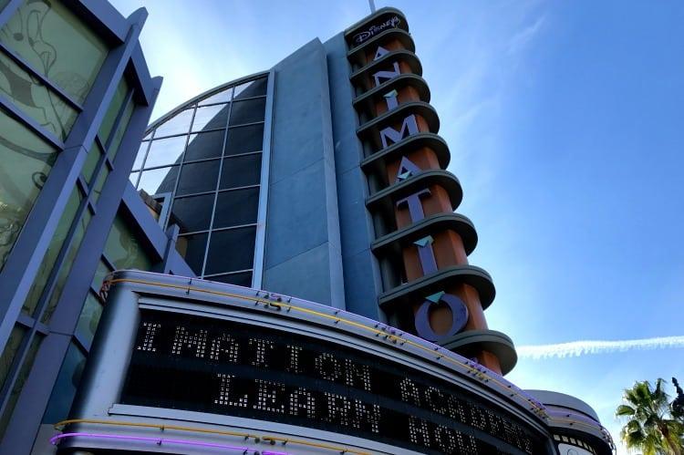 animation academy building at Disneyland