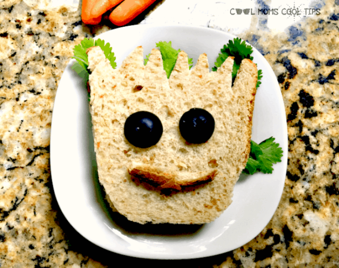 baby groot sandwich for your avengers party ideas