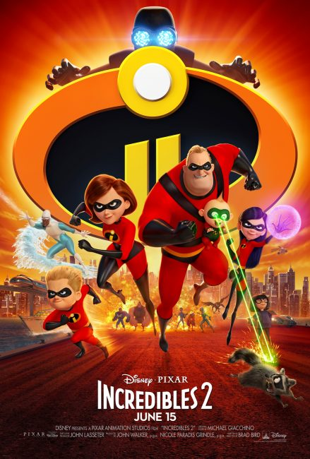Incredibles 2 movie poster family of supers poster