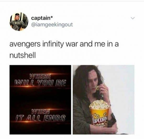 infinity war memes loki popcorn