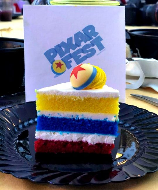 lemon raspberry pixar cake pixar fest at Disneyland