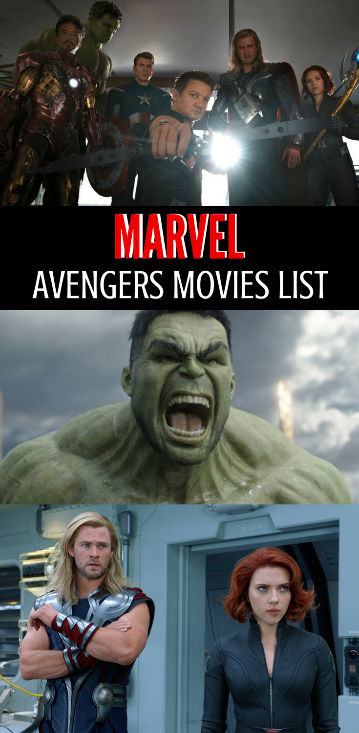 Marvel Avengers Movies In Order | Marvel Movies Lists | My ...