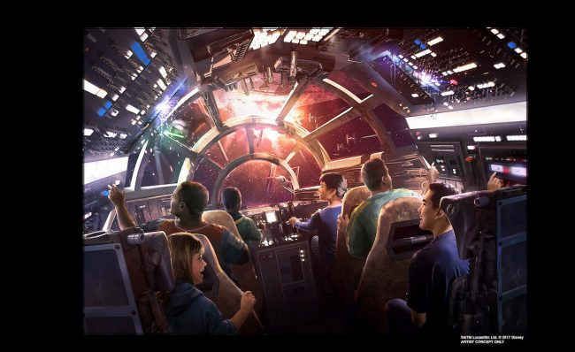 STAR WARS: GALAXY'S EDGE -- Walt Disney Parks & Resorts Chairman Bob Chapek shared new details and a glimpse inside the two attractions planed for Star Wars: Galaxy's Edge coming to both Disneyland park in Anaheim, Calif. and Disney's Hollywood Studios in Orlando, Fla. in 2019.